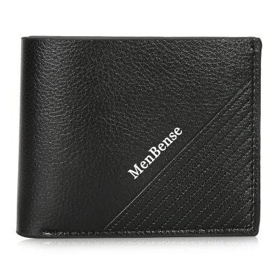 Wear-resistant Compact Men Leather Wallet