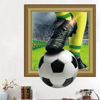 3D Wall Sticker with Football Pattern 1PC