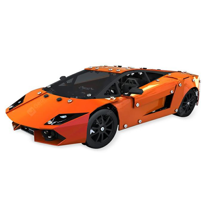 LP560 4 Alloy Simulation Car Building Block ORANGE