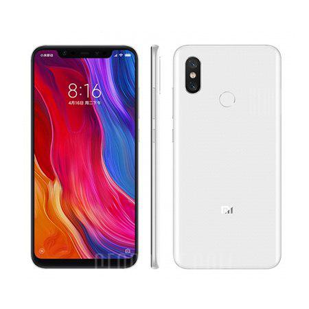 Xiaomi Mi 8 4G Phablet English and Chinese Version - WHITE  6+64Go