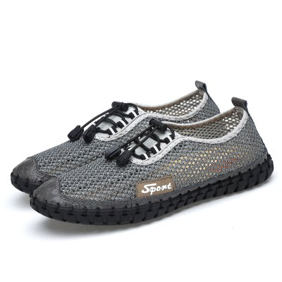 Male Breathable Mesh Elastic Band Casual Shoes