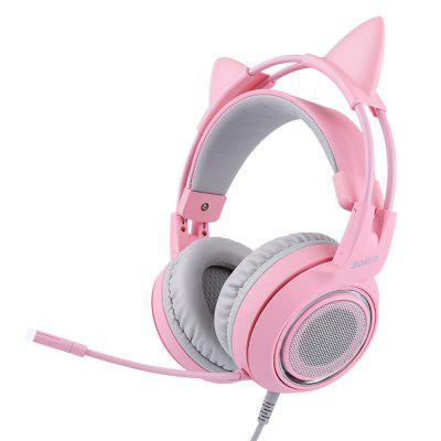 Somic G951 pink Gaming Headset Detachable Headphones