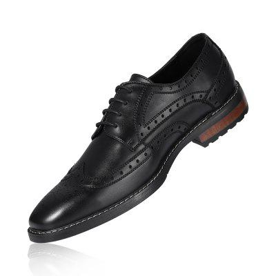 Men Trendy Breathable PU Formal Shoes