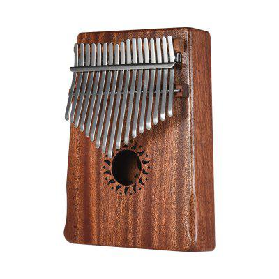 Thumb Piano Kalimba Mahogany 17 Key Mbira 17 75 recycled earth friendly outdoor patio club side table mahogany