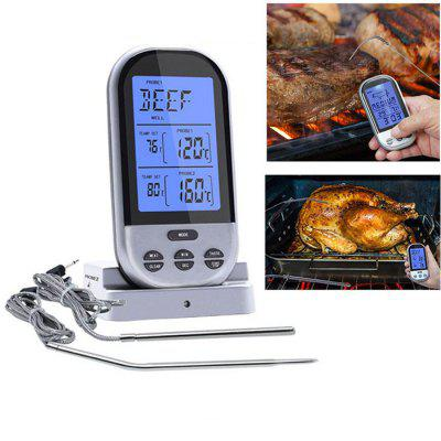 Digitale Drahtlose Dual Sonde Fleischthermometer mit LED Display