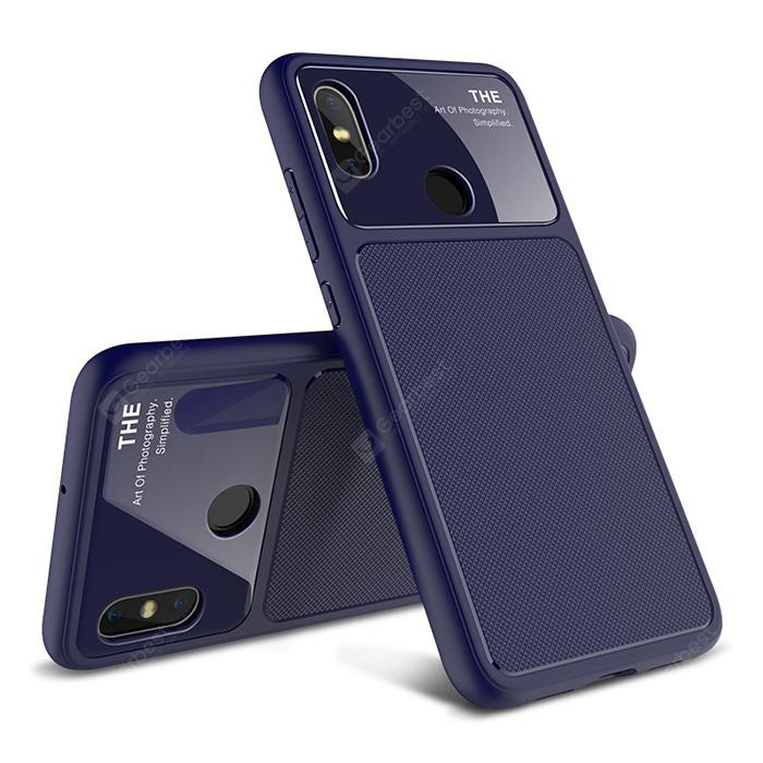 LENUO TPU + Glass Phone Case for Xiaomi Mi 8