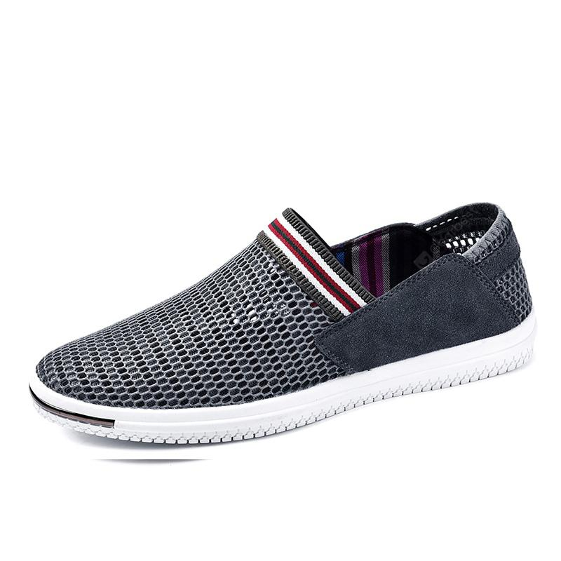 Surom Male Anti-slip Breathable Mesh Flat Shoes