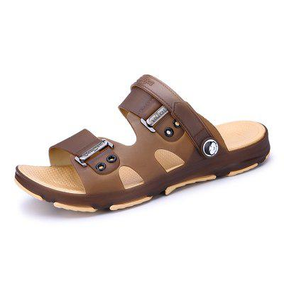 Men Leisure Hollow-out Anti-slip Dual-use Sandals