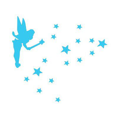 Luminous Switch Sticker with Angel Stars Pattern 1PC
