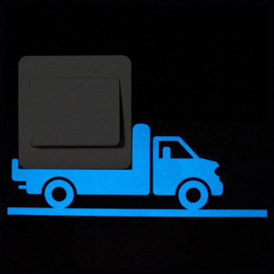 Luminous Switch Sticker with Truck Pattern 1PC
