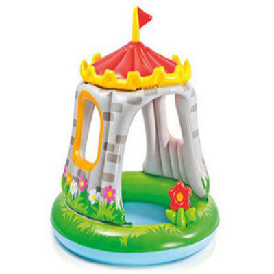 Colorful Castle Shaped Inflatable Children Swimming Pool inflatable baby kid swimming pool 150 35cm big size 4 ring summer play colorful pool baby child water pool color box