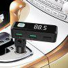 BC11 Wireless Bluetooth Car Charger MP3 Player FM Transmitter - BLACK