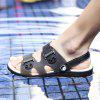 Men Leisure Hollow-out Anti-slip Dual-use Sandals - BLACK