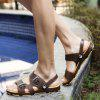 Men Leisure Hollow-out Anti-slip Dual-use Sandals - BROWN
