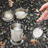 Collapsible Keychain Cup Stainless Steel - SILVER