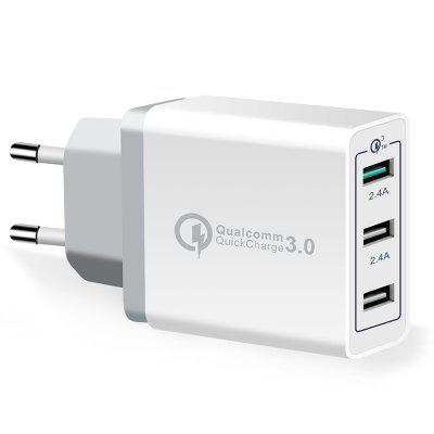 Spedcrd 3 Ports Quick Charger QC 3.0 30W USB  Fast Charger