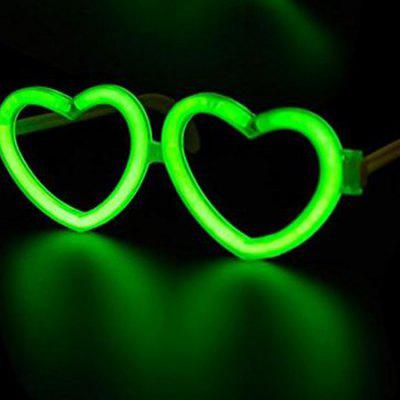 Creative Heart Shaped DIY Glow Sticks Eye Glasses