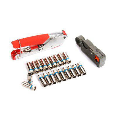 Coaxial Cable F Head Wire Stripping Pliers Kit
