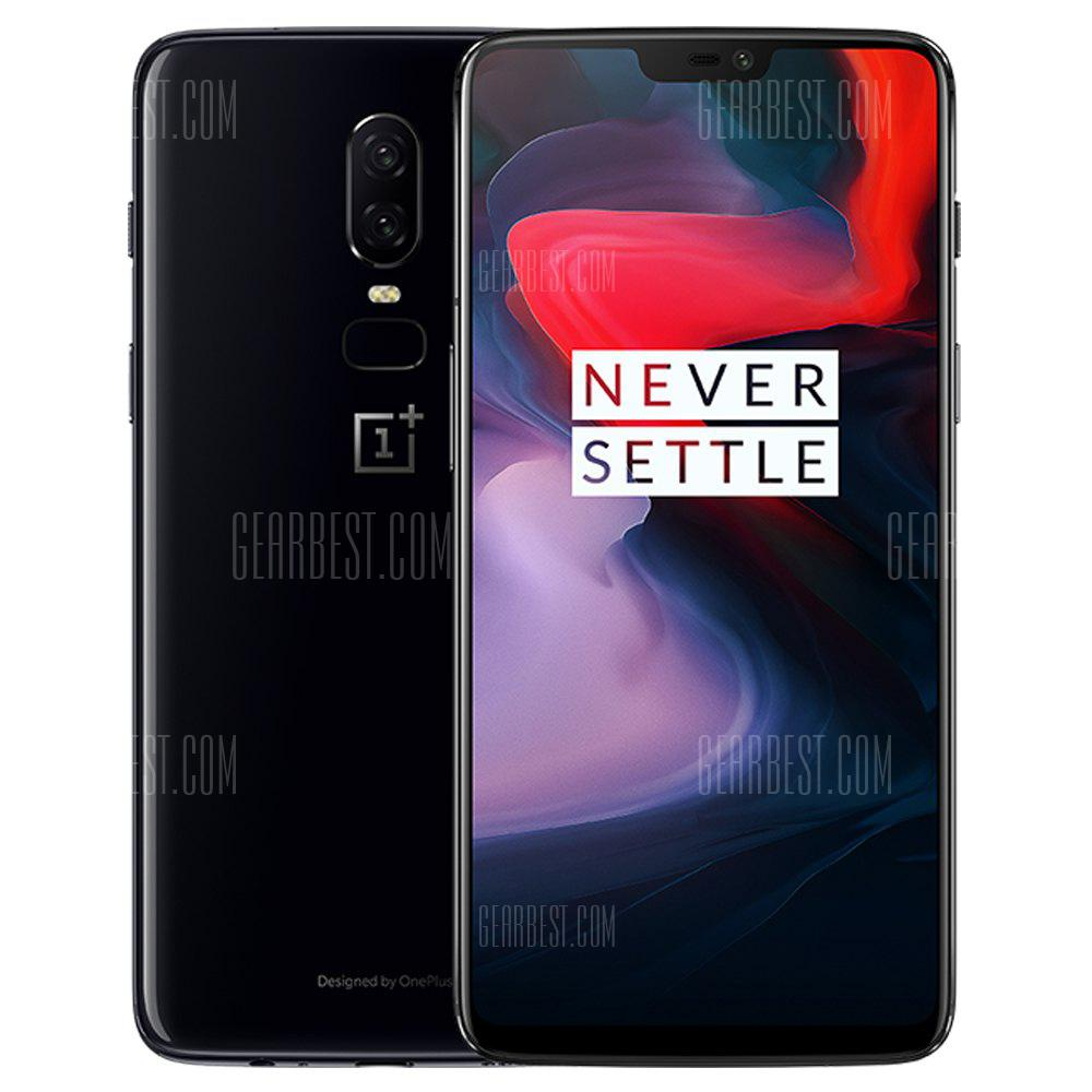 OnePlus 6 4G Phablet 8GB RAM 128GB ROM International Version - MIRROR BLACK