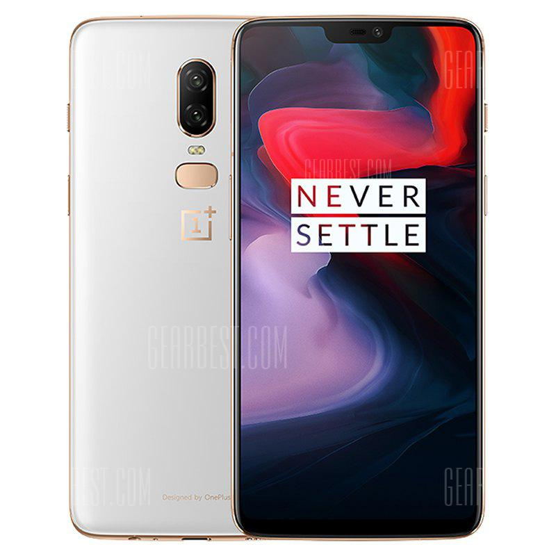 OnePlus 6 4G Phablet 8GB RAM 128GB ROM International Version - SILK WHITE