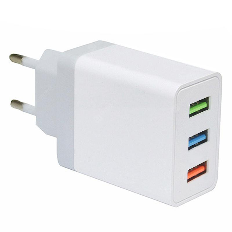 Minismile 5V 2.4A Universal Fast Charge 3 USB Port Home USB Power Travel Charger Wall Adapter