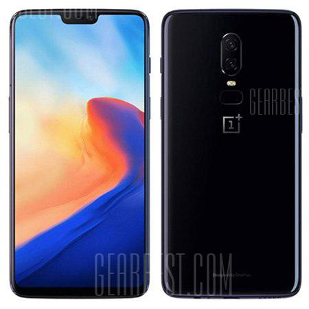 OnePlus 6 4G Phablet 64GB ROM International Version - MIRROR BLACK