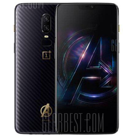 Gearbest 20% OFF: OnePlus 6 The Avengers Edition International Version - BLACK