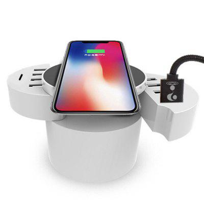 Smart Folding Wireless Charger with 10 USB Ports