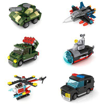 LOZ 6-in-1 Military and Police Vehicle Building Blocks 128pcs military field legion army tank educational bricks kids building blocks toys for boys children enlighten gift k2680 23030