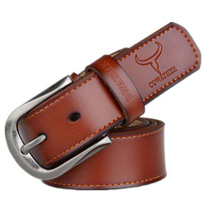 COWATHER Men Business Pin Buckle Leather Trouser Belt zhaxin western style business belt with alloy buckle for men