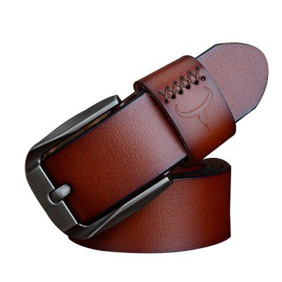 COWATHER Business Exquisite Pin Buckle Leather Trouser Belt