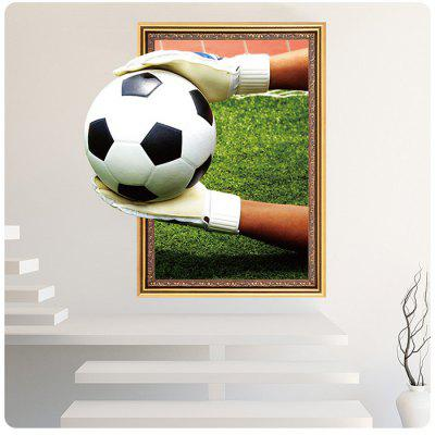 Soccer Football 3D Decorative Wall Sticker soccer shirt uniforms 3a 15 16 15 16 argentina home away football shirt
