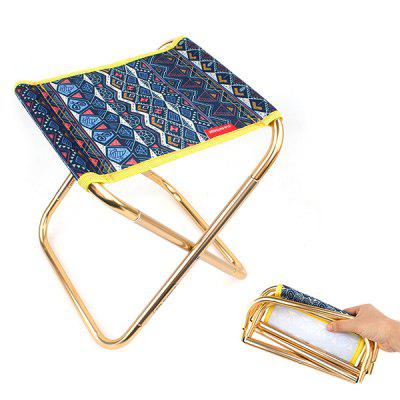 Camping Portable Folding Mini Chair of 7075 Aluminum Alloy outdoor furniture beach chair portable lightweight camping fishing folding barbecue metal stool tripod three feet chair seat