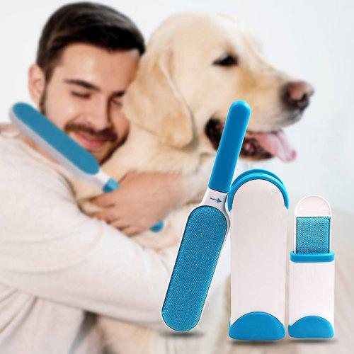 Clothes Pets Hair Remover Brush 2 Set – Blue 235608601,  | Warehouse: CN-099