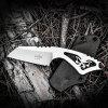 CIMA A850 EDC Straight Fixed Blade Knife - SILVER