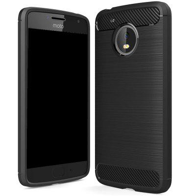 Wkae Solid Color Carbon Fiber Texture TPU Protective Case for MOTO G5