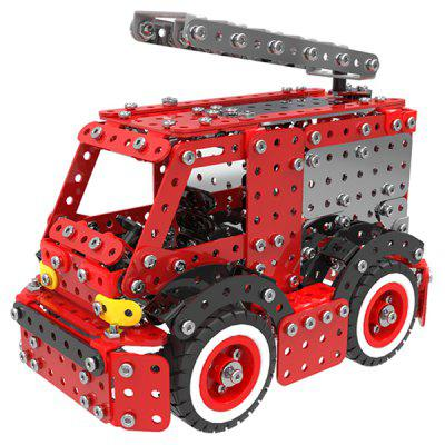 Stainless Steel Fire Truck Building Blocks 592pcs large size 90pcs fire station fire engine model building blocks bricks fireman figure kids educational toys compatible duplo