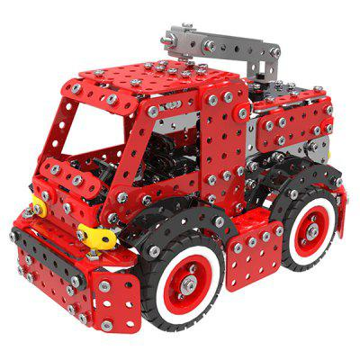 MoFunSW - 014 Stainless Steel Building Blocks Fire Engine Toy 592pcs large size 90pcs fire station fire engine model building blocks bricks fireman figure kids educational toys compatible duplo