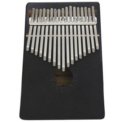 IRIN 17 Key Acacia Wood Sunflower Thumb Piano Kalimba