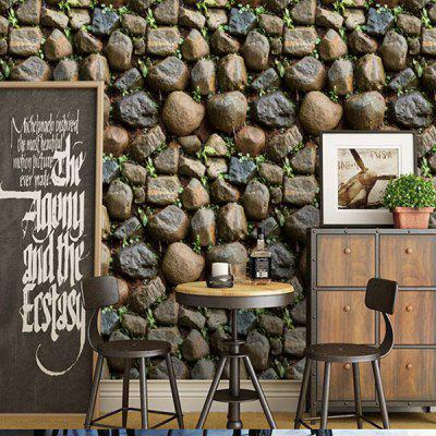 Home Decor 3D Stone Texture Wall Sticker