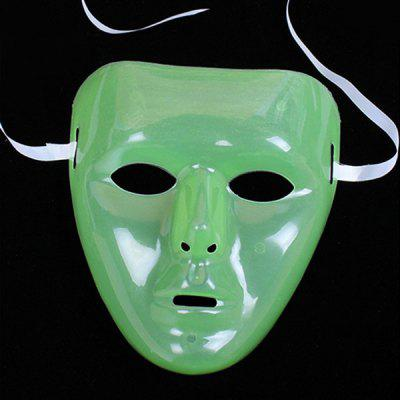 Creative Glow in the Dark Green Face Mask Party Toy