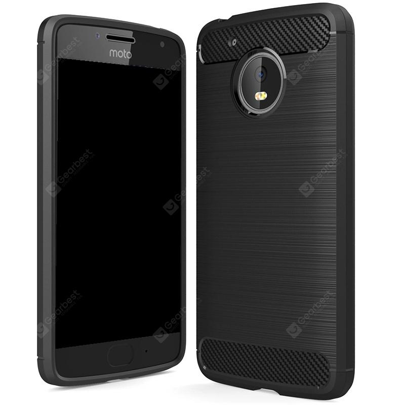 Wkae Solid Color Fibre De Carbone Texture Tpu Housse De Protection Pour MOTO G5
