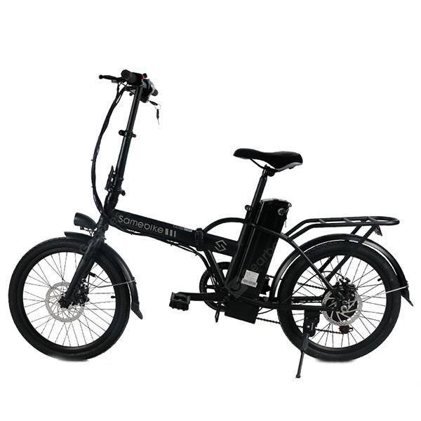 Samebike JG - 20 Smart Folding Bike Electric Moped Bicycle - BLACK EU PLUG