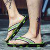 Men Chic Stripe Anti-slip Flip-flops Slippers - CHARTREUSE