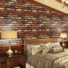 Home Decor 3D Brick Texture Wall Sticker - PAPAYA ORANGE