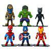 Hero Figure Model Toy for Decoration 6pcs - MULTI