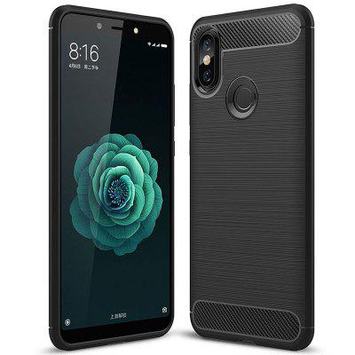 Case voor Xiaomi 6X luxe carbon TPU Soft Cover