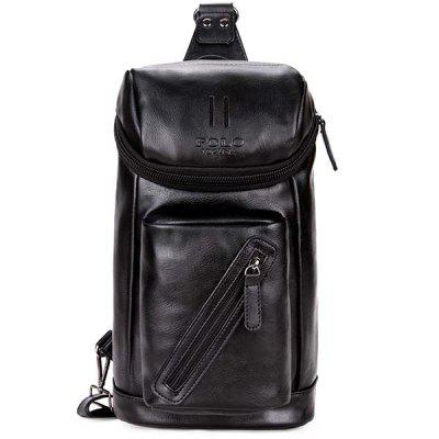VICUNAPOLO Men Leather Chest Bag high quality men genuine leather cowhide messenger shoulder bag cross body casual fashion travel sling chest pack