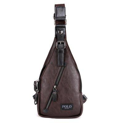 VICUNAPOLO Men Practical Anti-theft PU Chest Bag