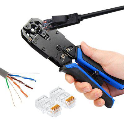 8P / 6P / 4P Connector Ratchet Crimping Tool pliers crimping tool set contain one crimping tool and four replacement crimping dies jaws packing in a plastic box hs02c 5d1